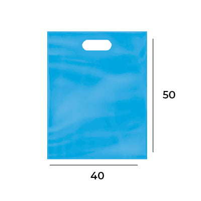 Sacola Plástica Boca de Palhaço 40x50