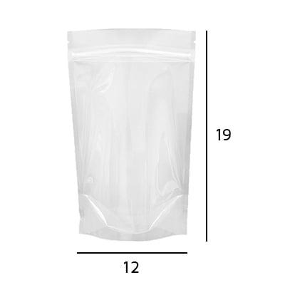 Stand up Pouch Transparente com Zip  12 x 19 x 3