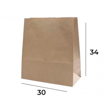 Saco Kraft para Delivery M - 34x30x17