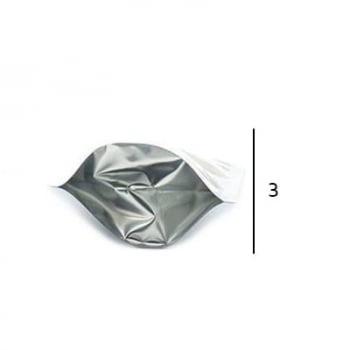 Stand up Pouch Metalizado com Zip  12 x 19,5 x 3